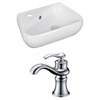 American Imaginations 17.5-in. W x 11-in. D Unique Vessel Set In White Color With Single Hole CUPC Faucet