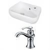 17.5-in. W x 11-in. D Unique Vessel Set In White Color With Single Hole CUPC Faucet