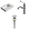 26-in. W x 17.75-in. D Rectangle Vessel Set In White Color With Single Hole CUPC Faucet And Drain