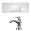 American Imaginations 48-in. W x 18.5-in. D Ceramic Top Set In White Color With Single Hole CUPC Faucet