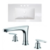 35.5-in. W x 19.75-in. D Ceramic Top Set In White Color With 8-in. o.c. CUPC Faucet
