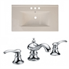 American Imaginations 35.5-in. W x 19.75-in. D Ceramic Top Set In Biscuit Color With 8-in. o.c. CUPC Faucet