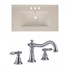 35.5-in. W x 19.75-in. D Ceramic Top Set In Biscuit Color With 8-in. o.c. CUPC Faucet