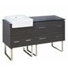 60-in. W x 20-in. D Plywood-Melamine Vanity Set In Dawn Grey