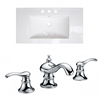 32-in. W x 18.25-in. D Ceramic Top Set In White Color With 8-in. o.c. CUPC Faucet