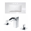 American Imaginations 32-in. W x 18.25-in. D Ceramic Top Set In White Color With 8-in. o.c. CUPC Faucet