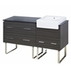 American Imaginations 60-in. W x 20-in. D Plywood-Melamine Vanity Set In Dawn Grey