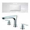 48-in. W x 18.5-in. D Ceramic Top Set In White Color With 8-in. o.c. CUPC Faucet