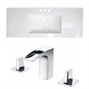 American Imaginations 48-in. W x 18.5-in. D Ceramic Top Set In White Color With 8-in. o.c. CUPC Faucet