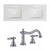 48-in. W x 18.25-in. D Ceramic Top Set In White Color With 8-in. o.c. CUPC Faucet