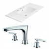 American Imaginations 35.5-in. W x 18.25-in. D Ceramic Top Set In White Color With 8-in. o.c. CUPC Faucet
