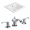 21-in. W x 18-in. D Ceramic Top Set In White Color With 8-in. o.c. CUPC Faucet
