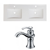 59-in. W x 18-in. D Ceramic Top Set In White Color With Single Hole CUPC Faucet