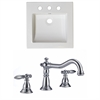 21.5-in. W x 17.75-in. D Ceramic Top Set In White Color With 8-in. o.c. CUPC Faucet
