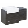 American Imaginations 38-in. W x 20-in. D Plywood-Melamine Vanity Set In Dawn Grey