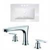American Imaginations 30-in. W x 18.5-in. D Ceramic Top Set In White Color With 8-in. o.c. CUPC Faucet