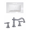 American Imaginations 21-in. W x 18.5-in. D Ceramic Top Set In White Color With 8-in. o.c. CUPC Faucet