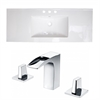 39.75-in. W x 18.25-in. D Ceramic Top Set In White Color With 8-in. o.c. CUPC Faucet