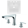 16.5-in. W x 16.5-in. D Ceramic Top Set In White Color With 8-in. o.c. CUPC Faucet