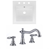 American Imaginations 16.5-in. W x 16.5-in. D Ceramic Top Set In White Color With 8-in. o.c. CUPC Faucet
