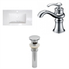 32-in. W x 18.25-in. D Ceramic Top Set In White Color With Single Hole CUPC Faucet And Drain