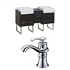 62-in. W x 20-in. D Plywood-Melamine Vanity Set In Dawn Grey With Single Hole CUPC Faucet