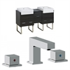 American Imaginations 62-in. W x 20-in. D Plywood-Melamine Vanity Set In Dawn Grey With 8-in. o.c. CUPC Faucet