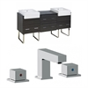 72-in. W x 20-in. D Plywood-Melamine Vanity Set In Dawn Grey With 8-in. o.c. CUPC Faucet