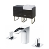 48-in. W x 20-in. D Plywood-Melamine Vanity Set In Dawn Grey With 8-in. o.c. CUPC Faucet