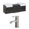 American Imaginations 72-in. W x 20-in. D Plywood-Melamine Vanity Set In Dawn Grey With Single Hole CUPC Faucet