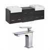 72-in. W x 20-in. D Plywood-Melamine Vanity Set In Dawn Grey With Single Hole CUPC Faucet
