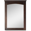 American Imaginations 24-in. W x 31.5-in. H Modern Plywood-Veneer Wood Mirror In Walnut