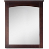 American Imaginations 30-in. W x 31.5-in. H Modern Plywood-Veneer Wood Mirror In Walnut