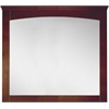 36-in. W x 31.5-in. H Modern Plywood-Veneer Wood Mirror In Walnut