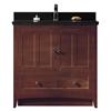 American Imaginations 35.5-in. W x 18-in. D Modern Plywood-Veneer Vanity Base Set Only In Walnut