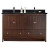 59.5-in. W x 18-in. D Modern Plywood-Veneer Vanity Base Set Only In Walnut