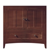 35.5-in. W x 18-in. D Modern Plywood-Veneer Vanity Base Only In Walnut