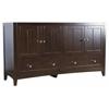 59.5-in. W x 18-in. D Modern Plywood-Veneer Vanity Base Only In Walnut