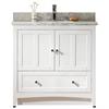 35.5-in. W x 18-in. D Modern Plywood-Veneer Vanity Base Set Only In White