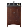 23.5-in. W x 18-in. D Plywood-Veneer Vanity Set In Walnut