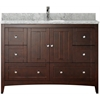 47.5-in. W x 18-in. D Plywood-Veneer Vanity Set In Walnut