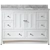 47.5-in. W x 18-in. D Plywood-Veneer Vanity Set In White