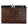 59.5-in. W x 18-in. D Plywood-Veneer Vanity Set In Walnut