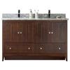 59.5-in. W x 18-in. D Plywood-Veneer Vanity Set In Walnut