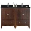 47.5-in. W x 18-in. D Modern Plywood-Veneer Vanity Base Set Only In Walnut