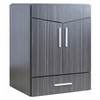 23-in. W x 18-in. D Modern Wall Mount Plywood-Melamine Vanity Base Only In Dawn Grey