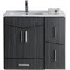 36-in. W x 17-in. D Modern Wall Mount Plywood-Melamine Vanity Base Set Only In Dawn Grey