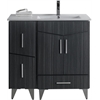 American Imaginations 36-in. W x 17-in. D Modern Plywood-Melamine Vanity Base Set Only In Dawn Grey