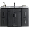 48-in. W x 17-in. D Modern Wall Mount Plywood-Melamine Vanity Base Set Only In Dawn Grey