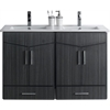 American Imaginations 48-in. W x 17-in. D Modern Wall Mount Plywood-Melamine Vanity Base Set Only In Dawn Grey